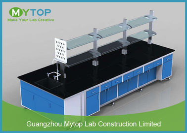 Customized Metal Science Laboratory Furniture Bench with Trespa Worktop